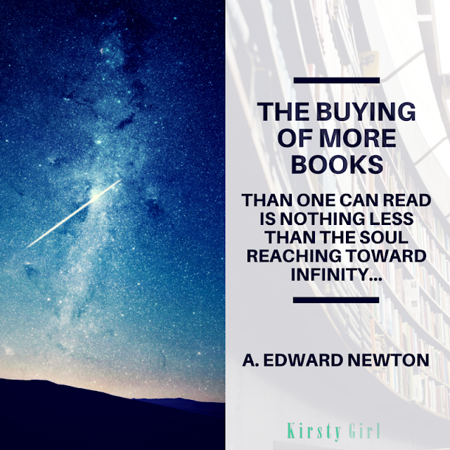 The buying of more books than one can read is nothing less than the soul reaching toward infinity book quote