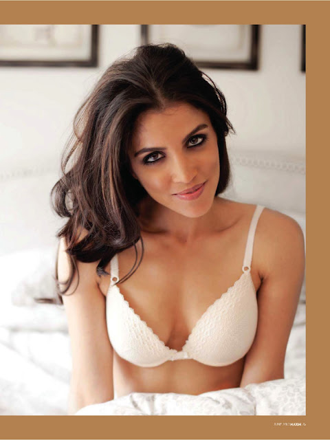 Nazneen Contractor in Lingerie on Maxim
