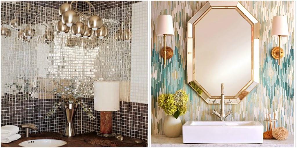 Badkamertegels Blauw : Bathroom Tile Trends