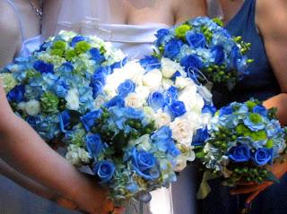 Elegant Blue Wedding Flowers
