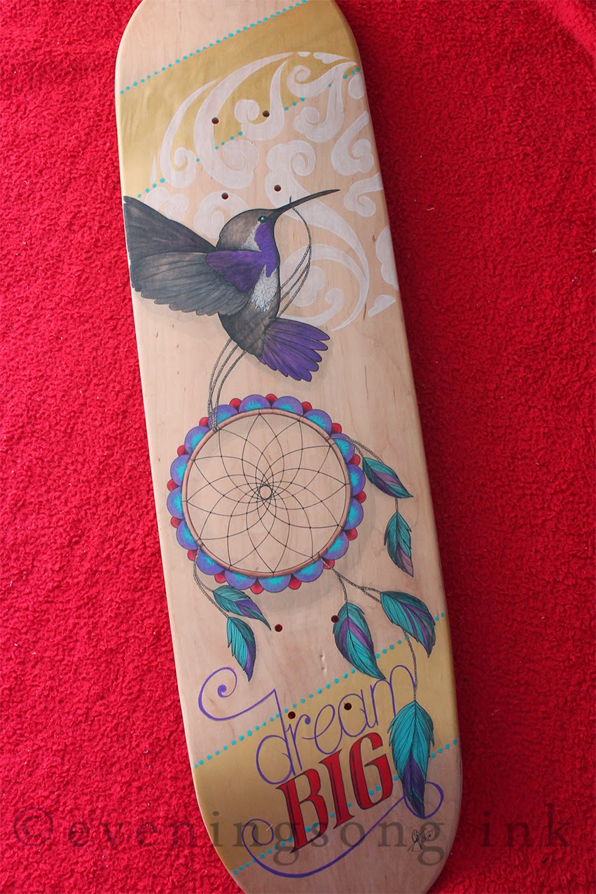 Dream Big skate deck - Eveningsong Ink