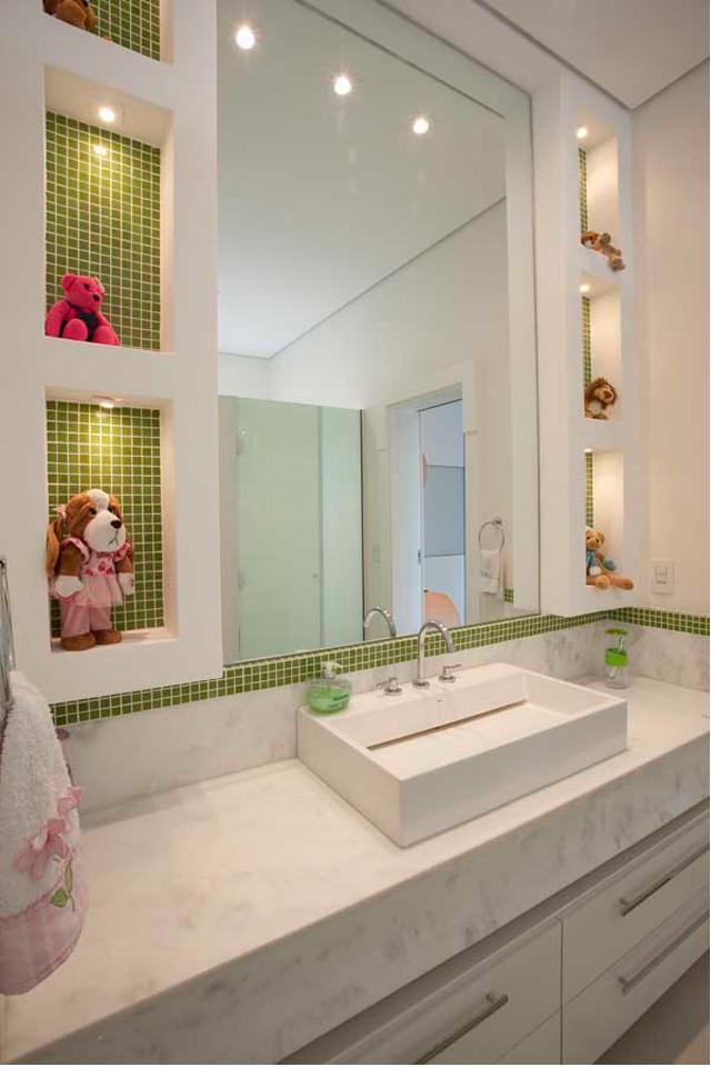 Demi suíte – veja modelos e dicas para ter quartos com banheiro com pouco esp -> Banheiros Decorados Suite
