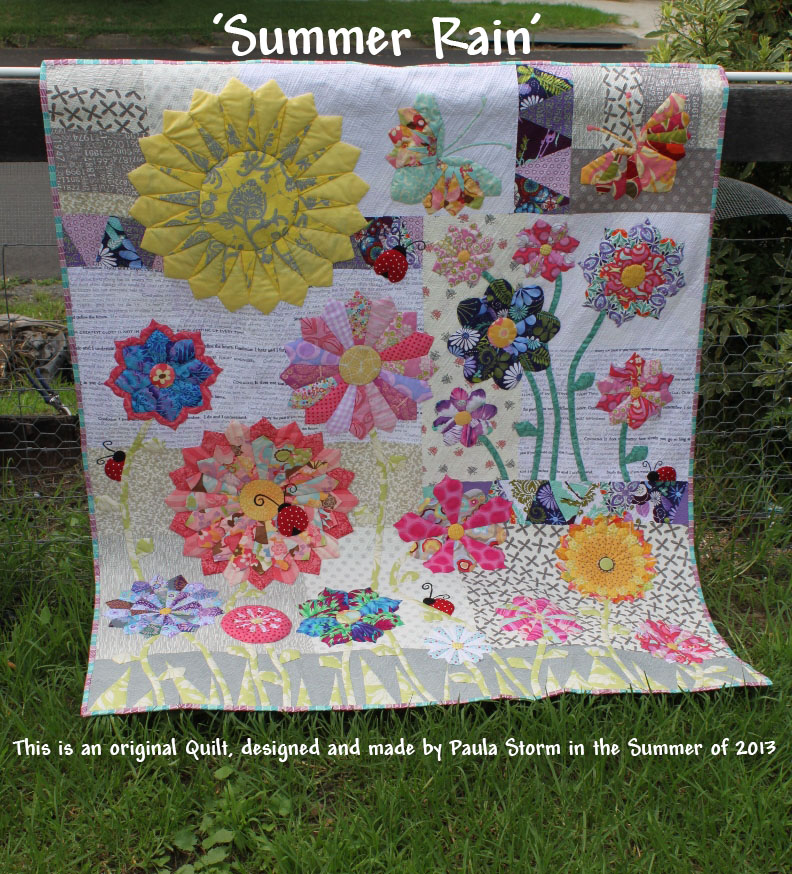 Sew Little Fabric By Paula Storm Summer Rain My Modern Dresden