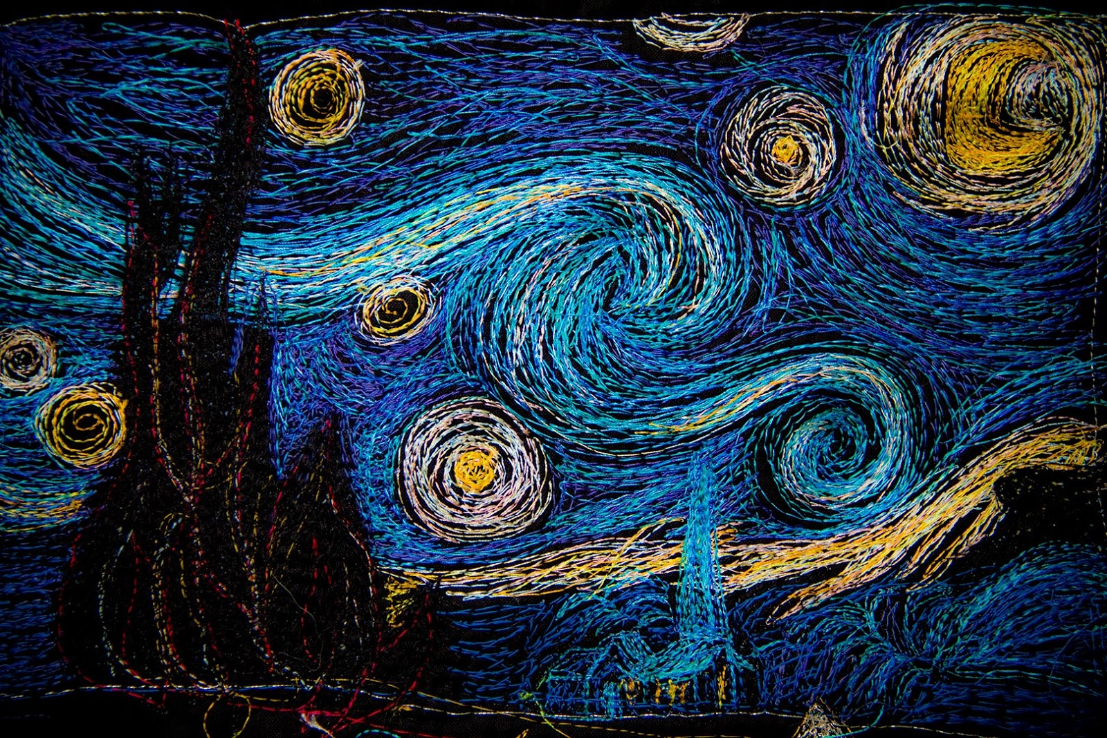 machinequilter: The Starry Night : starry night quilt pattern - Adamdwight.com