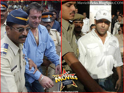 bollywood superstars behind the jail bars, salman khan in jail, sanjay dutt, fardeen khan, shiney ahuja, bollywood, salman khan, monica bedi, ayesha takia