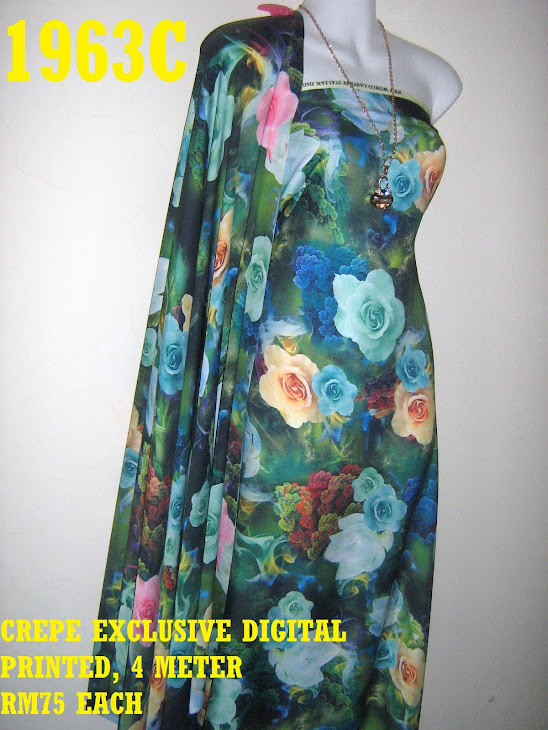 CDP 1963C: CREPE EXCLUSIVE DIGITAL PRINTED, 4 METER
