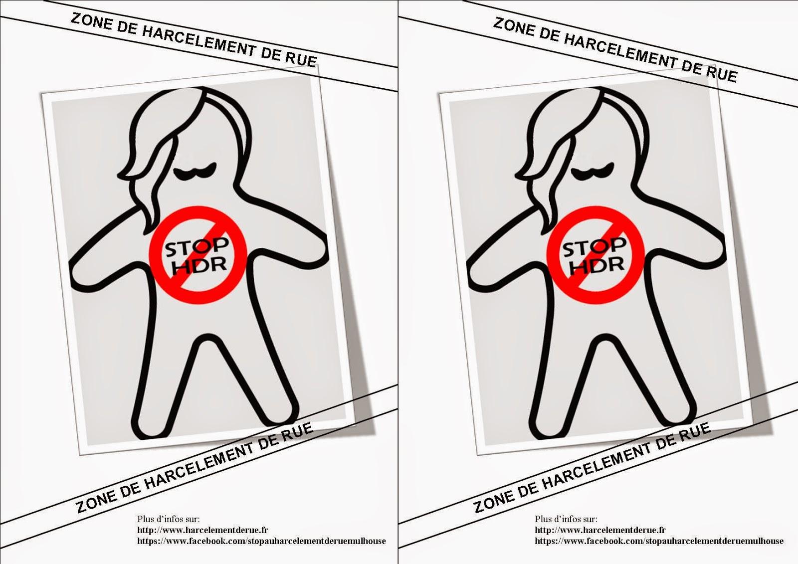 Affiche harcèlement de rue à imprimer