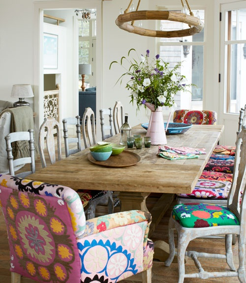 Eclectic Decorating Style Home Decor Vintage Small Kitchen: Global Chic Ethnic Color Vibrant Chic Modern Eclectic