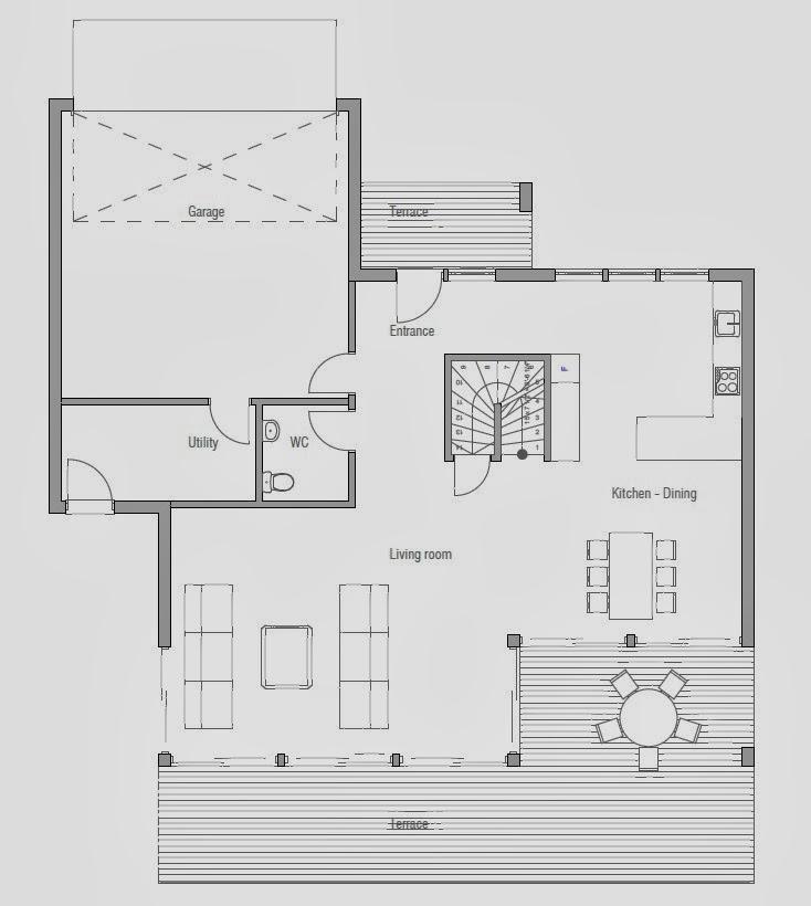 Plantas de casas modernas planta de casa moderna ch171 for Plantas de casas modernas