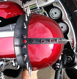 motorcycle helmet spikes