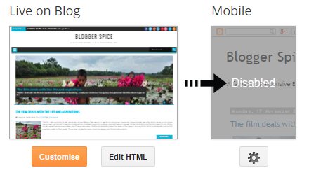 disable mobile template