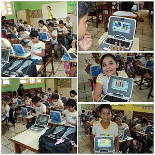 Usando laptop UCA com tabelas gráficos