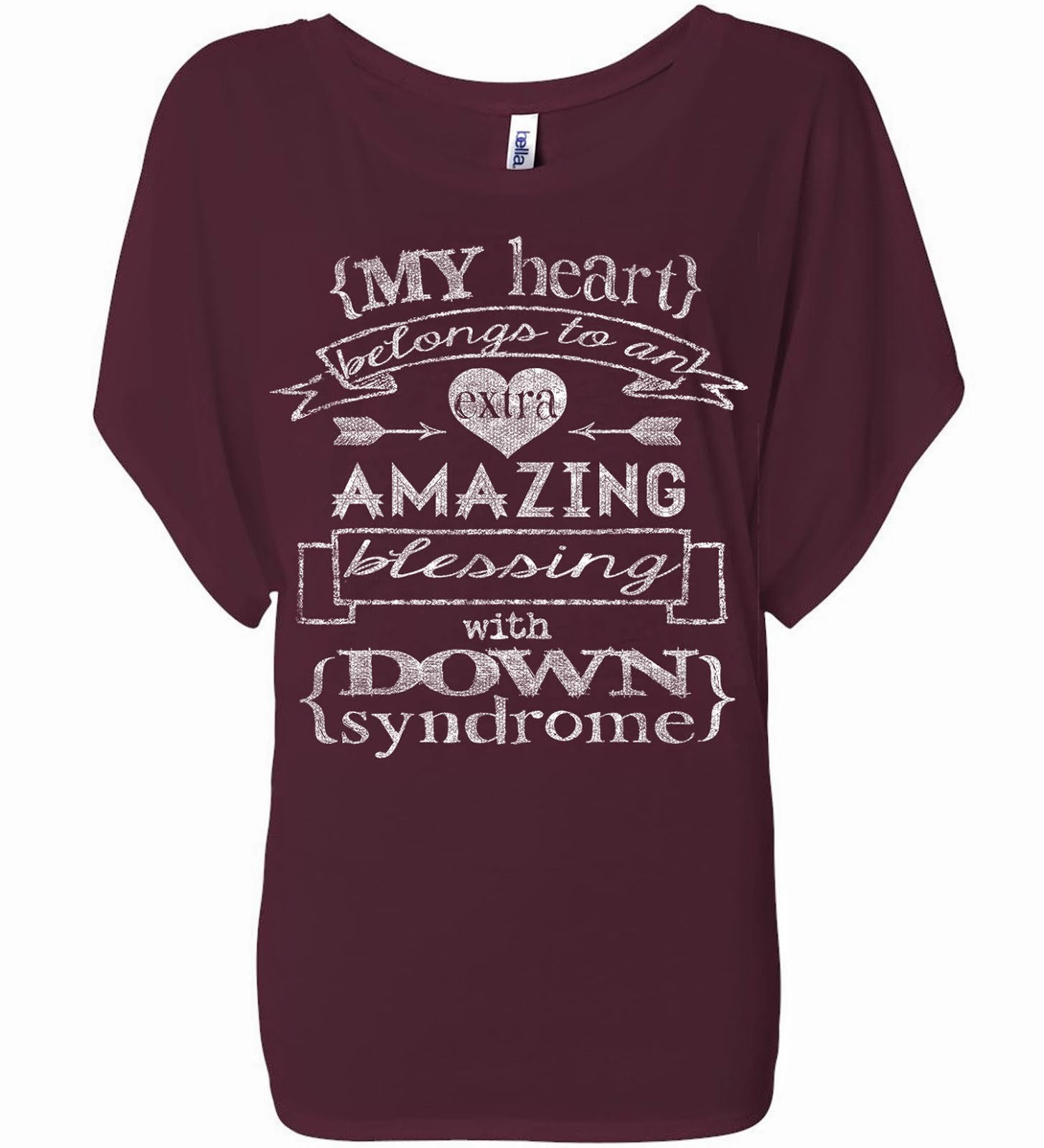 My Heart Belongs Maroon Dolman