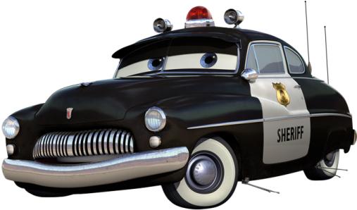 Disney Pixar Cars Sheriff Wallpaper