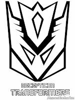 Mewarnai Logo Decepticon Transformer