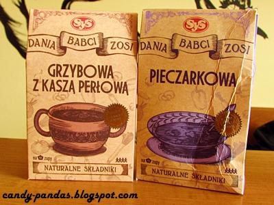 Zupy babci Zosi (pieczarkowa i grzybowa z kaszą perłową) - SyS