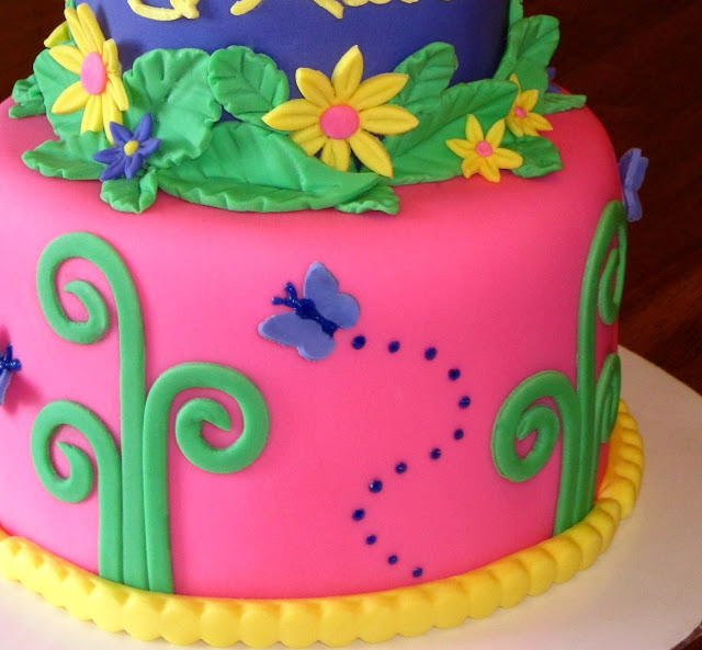 Custom Cakes By Stef: Tinkerbell 2-tier cake
