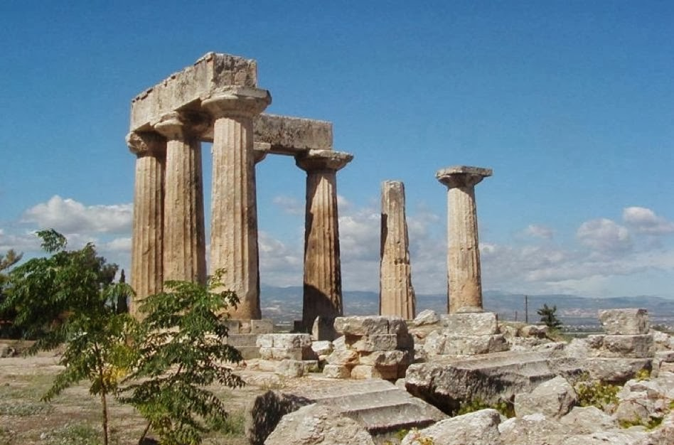 HolyLandSites: Greece - Corinth: Temple of Apollo