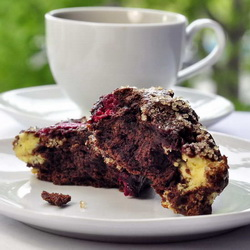 Chocolate Raspberry Cheesecake Scones