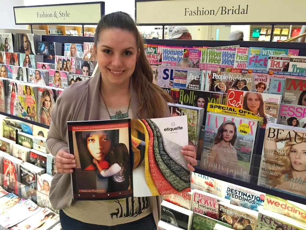 HOLR, HOLR Magazine, magazine, black magazine, toronto magazine, malinda prudhomme, artist, portrait artist, toronto artist, chapters, indigo, beauty art