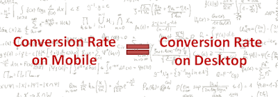 Conversion rate on mobile equals conversion rate on desktop