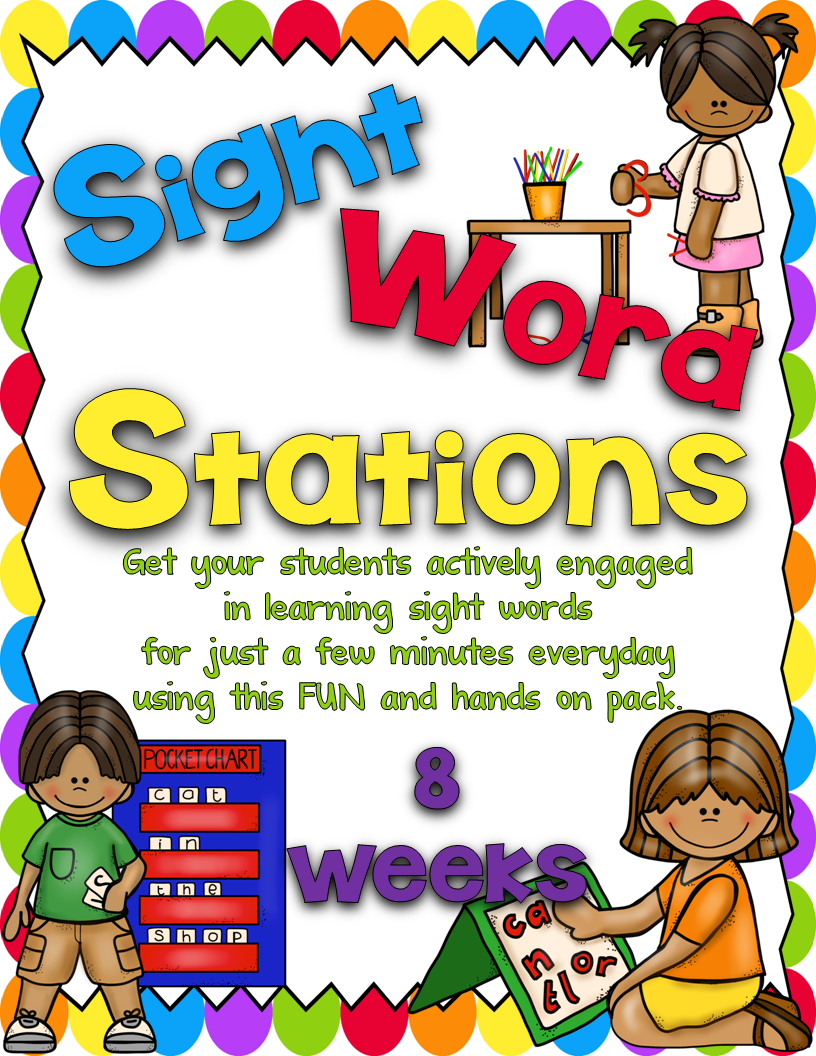 https://www.teacherspayteachers.com/Product/Sight-Word-Stations-PrePrimerBundled-1097610