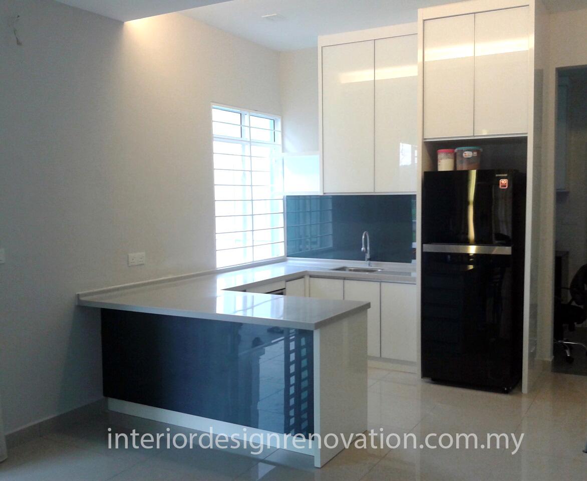 Rawang semi detached home dry kitchen interior design and renovation