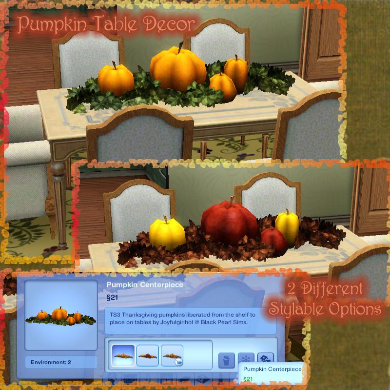 My Sims 3 Blog Pumpkin Table Decor Pumpkin Table Decor By