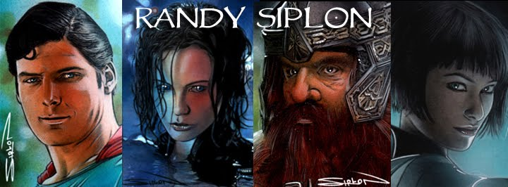 Randy Siplon - Sketch Cards - Portraits - Illustration - Star Wars LOTR Art