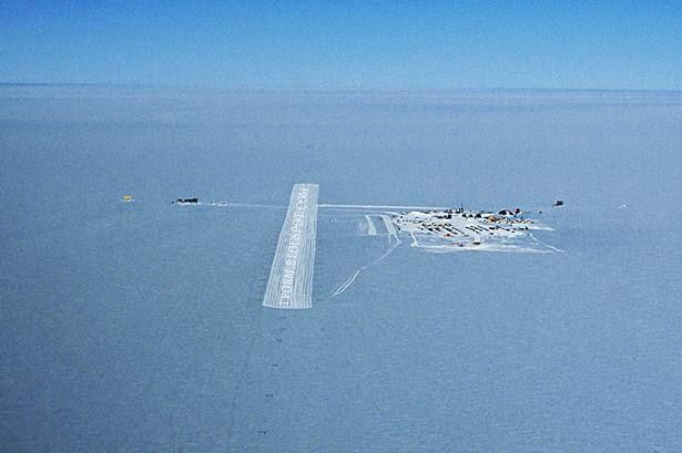Ice Airport Runway, Antarctica
