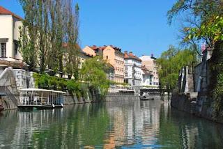 Homes Along River - Ljubljana, Slovenia
