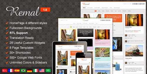 Remal Themeforest Responsive WordPress Blog Theme Version 2.4.1 free