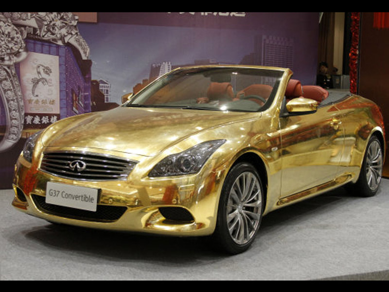 Hot Car Pictures Gallery Infiniti G37 Sports Car Gold