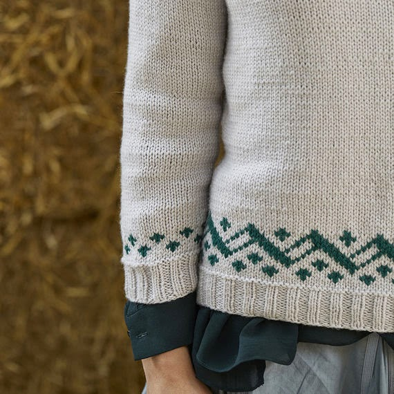 Amelia sweater pattern by Katya Frankel for Yarn Stories.