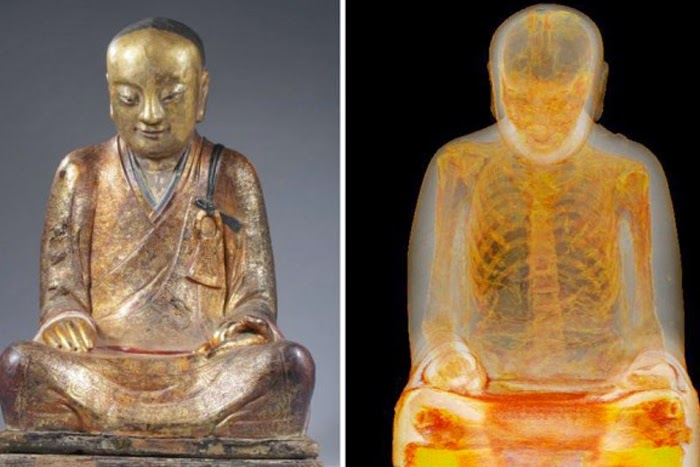 Mummy Hidden Inside Buddhist Statue