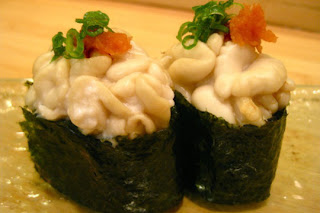 Michael Ovitz's Hamasaku serving cod sperm roll