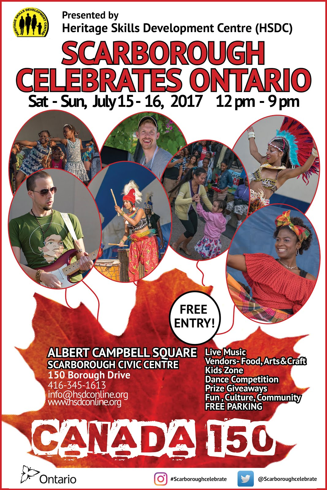 July 15-16 Scarborough Celebrates Ontario 150