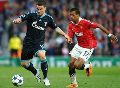 Luis Nani Manchester United vs Schalke 04 Champions League