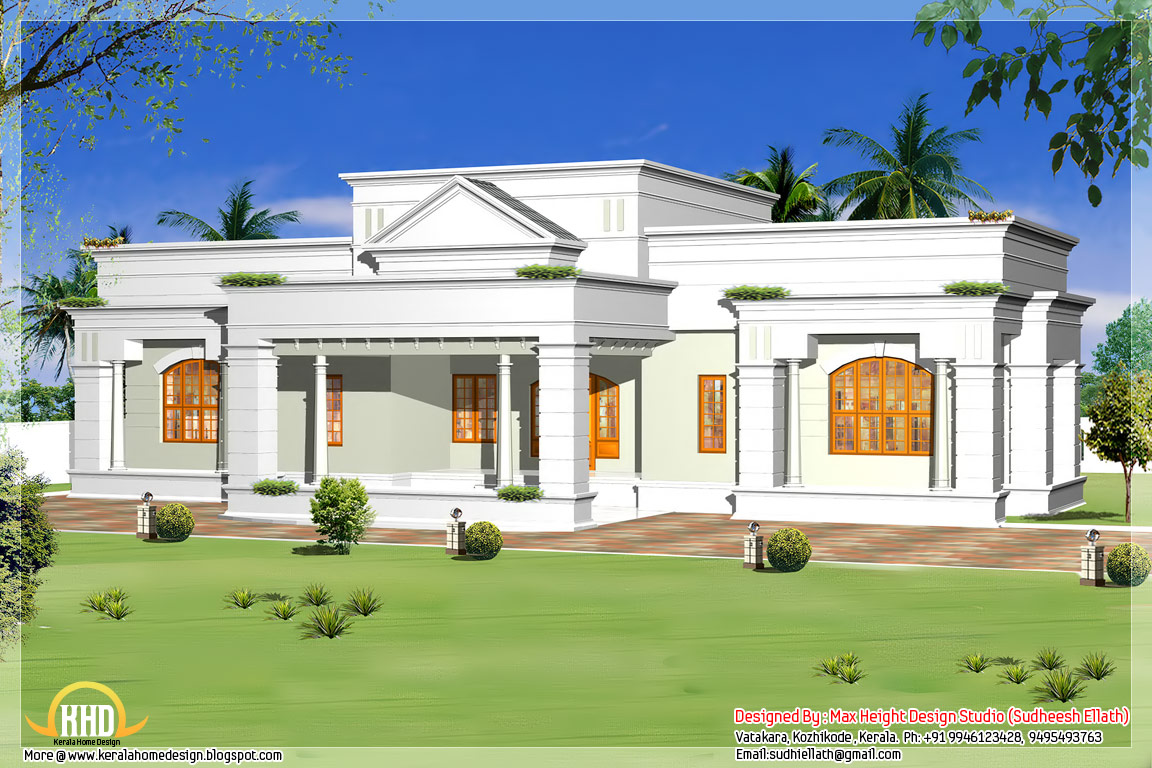 May 2012 kerala home design and floor plans for One floor house plans