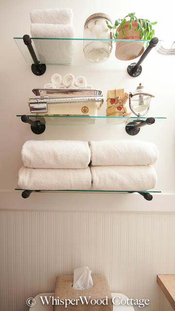 Whisperwood Cottage Industrial Shelf Solution For Guest