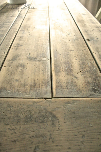 DIY Rustic Farmhouse Table Makeover - Nest of Bliss