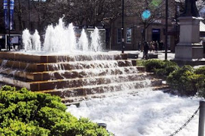 Youth Throw Bubble Bath In Bolton Fountains