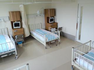 写真:4人部屋の病室