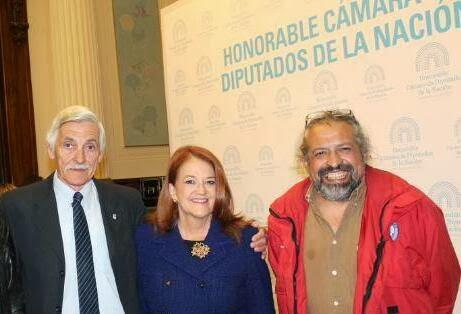 Embajadora Alicia Castro, N. Karasiewicz y Toni López