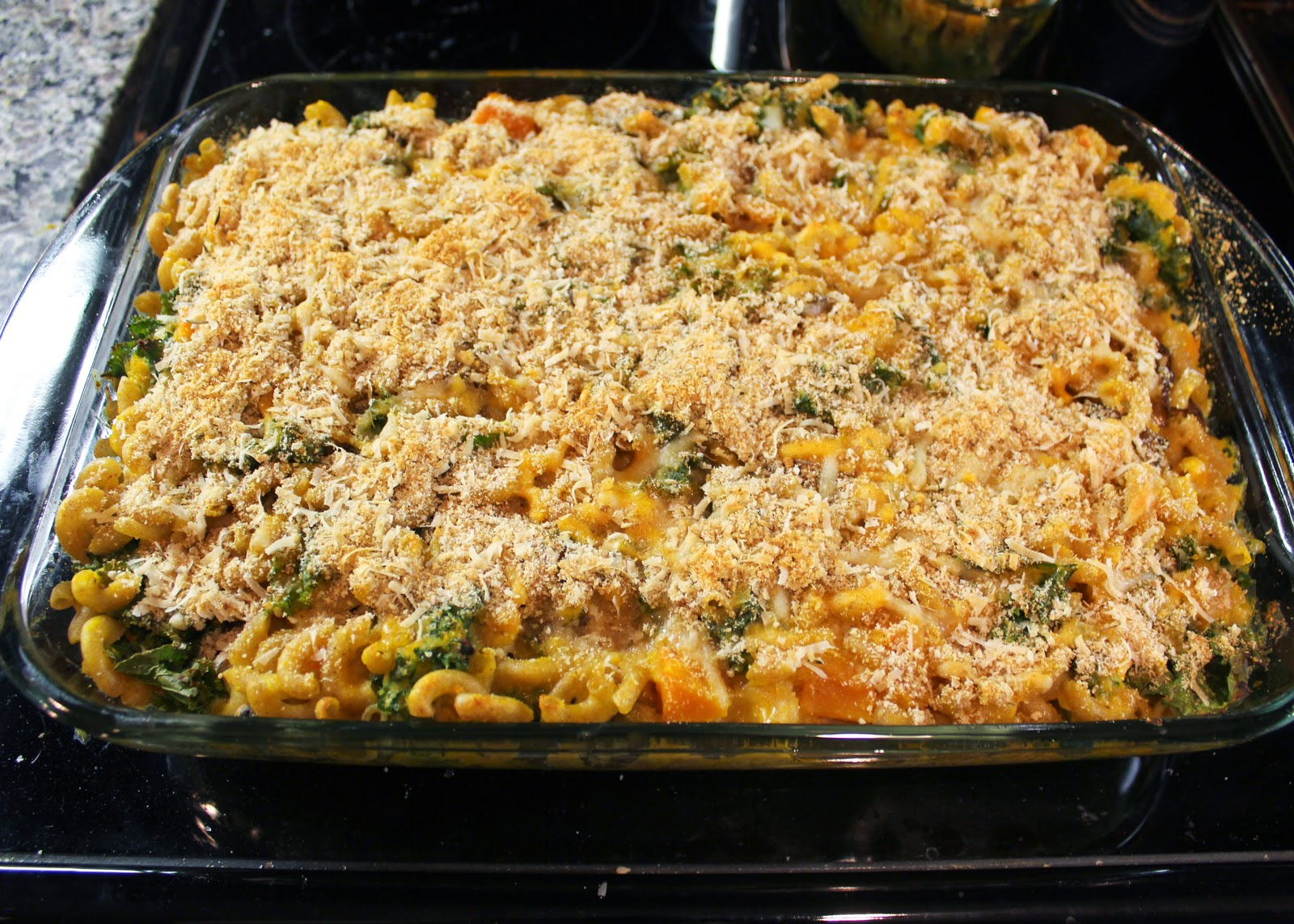 Baked squash mac and cheese