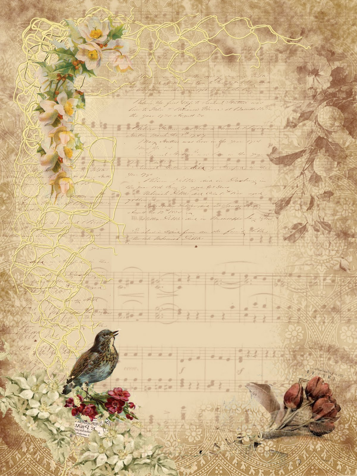 Bewitching image inside free printable vintage stationary