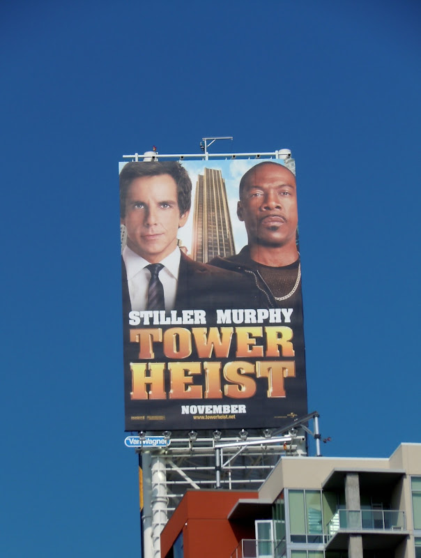 Stiller Murphy Tower Heist billboard