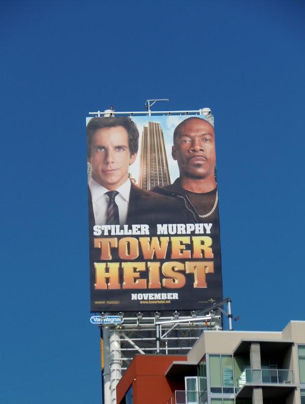 Stiller Murphy Tower Heist billboard