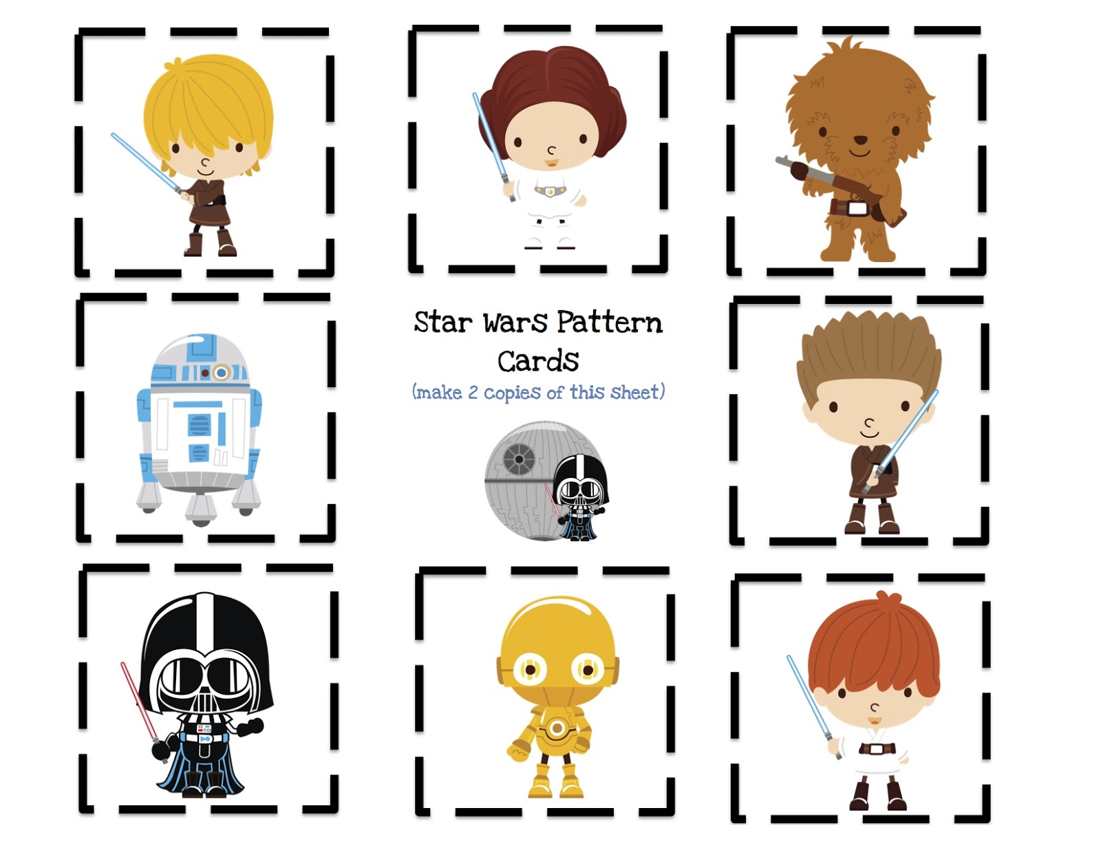 This is a graphic of Witty Star Wars Printable Cards