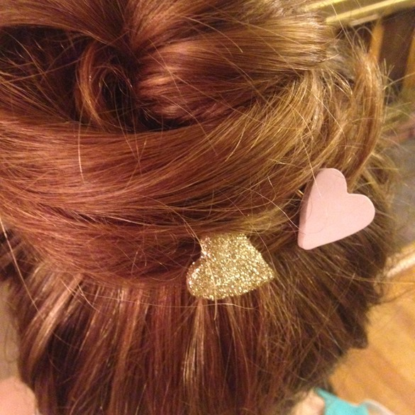 DIY Heart Hair Pins | Ruffled Paper